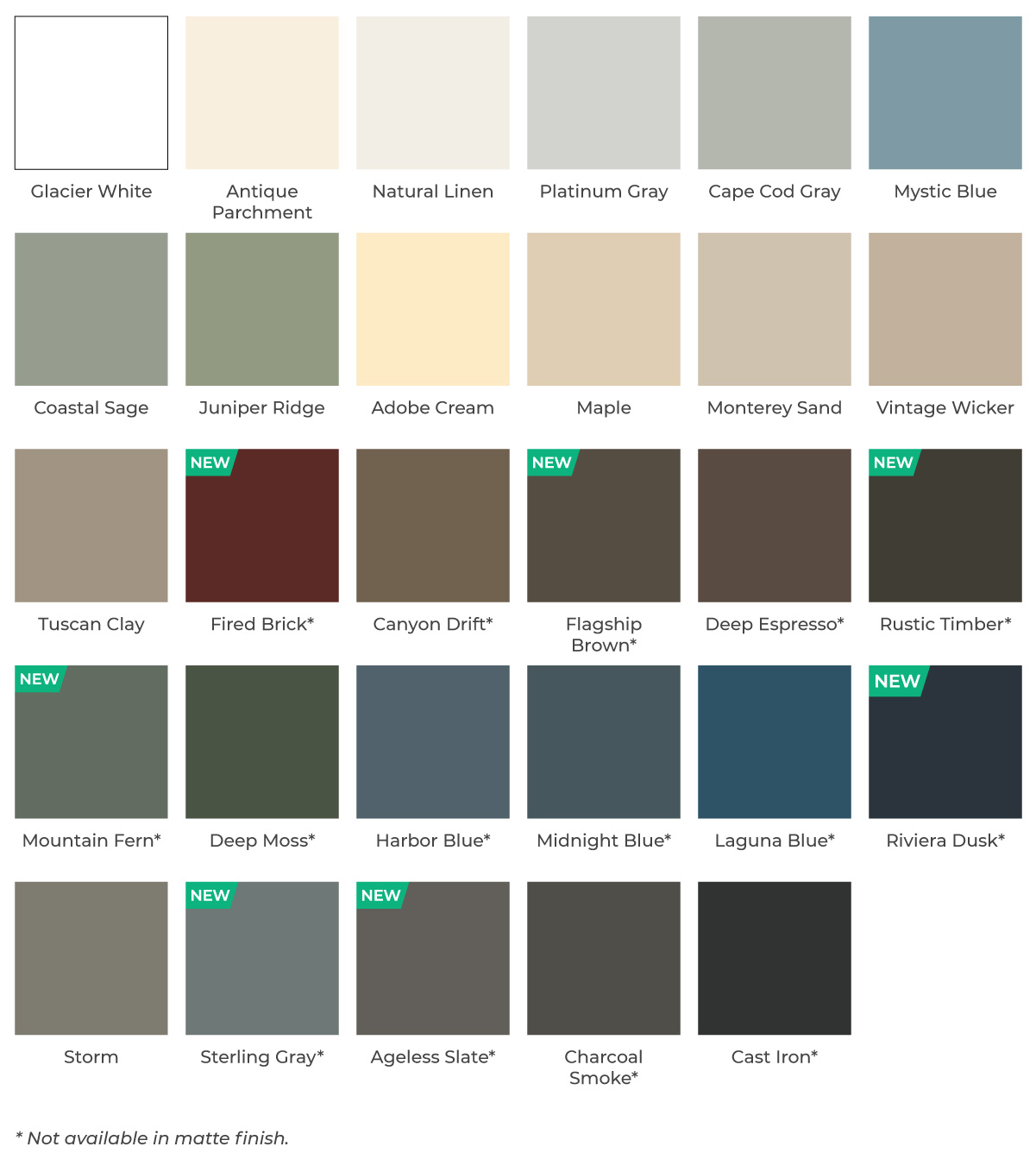 vinyl siding color options