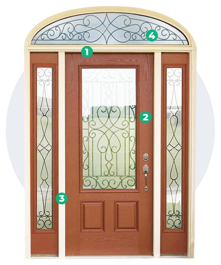 diagram of a window world door