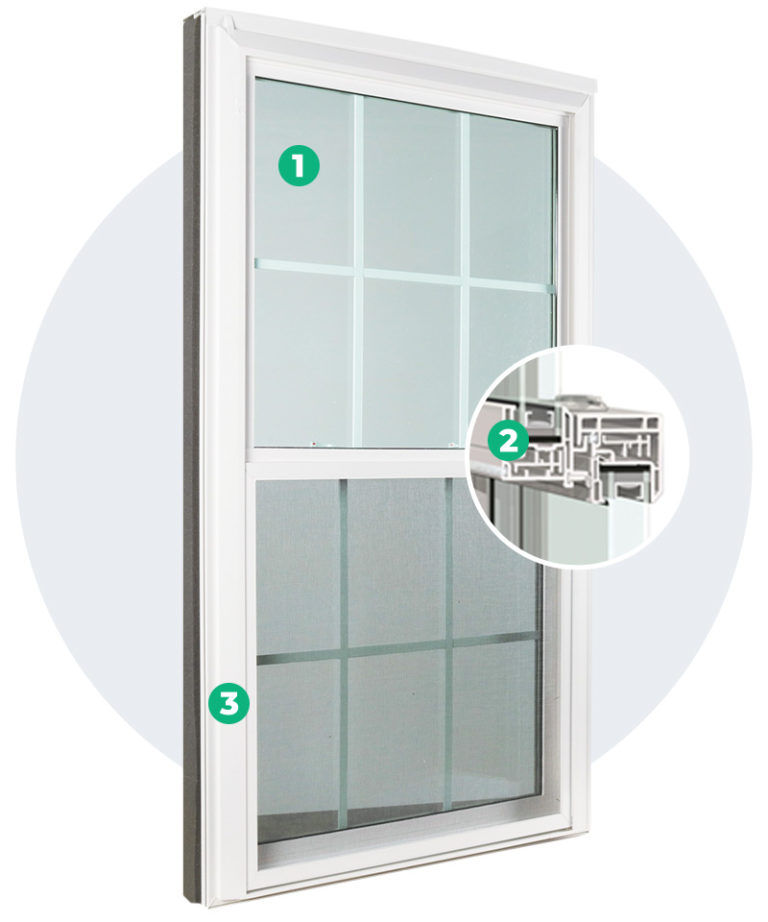 diagram of the inside of a window